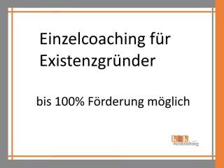 Einzelcoaching für Existenzgründer mit Aktivierungs- und Vermittlungsgutschein