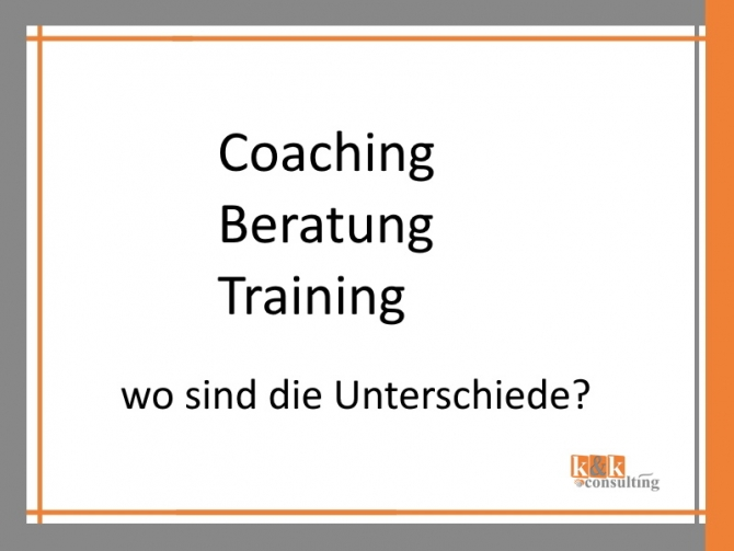 Coaching - Beratung - Training