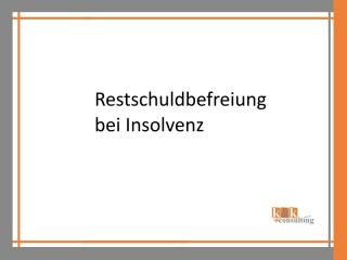 Restschuldbefreiung bei Insolvenz